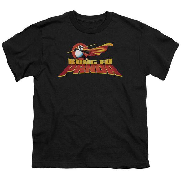 Kung Fu Panda Logo Short Sleeve Youth T-Shirt