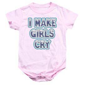 I Make Girls Cry Infant Snapsuit Pink Md