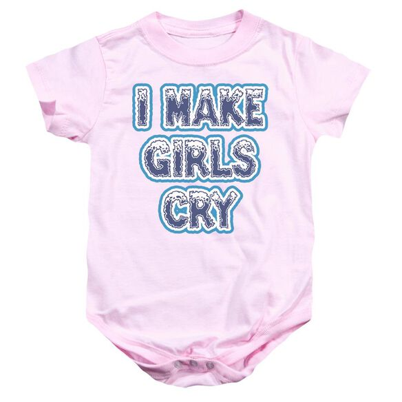 I Make Girls Cry Infant Snapsuit Pink Md