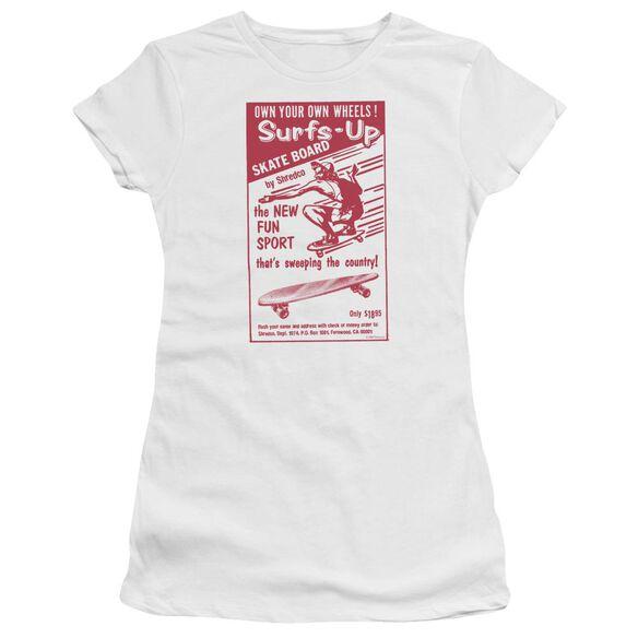 Surfs Up Short Sleeve Junior Sheer T-Shirt