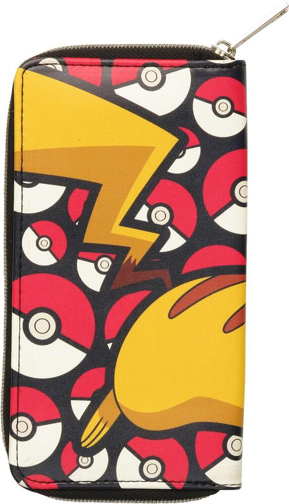 half off 3c785 51b13 Pokemon Pikachu and Balls Zip Clutch Wallet