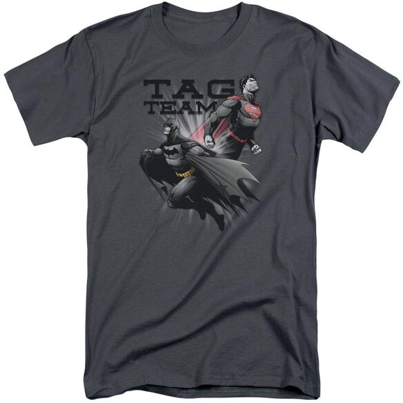 Jla Tag Team Short Sleeve Adult Tall T-Shirt