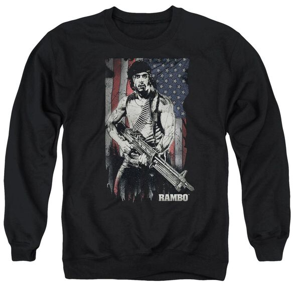 Rambo:First Blood Worn Liberty Adult Crewneck Sweatshirt