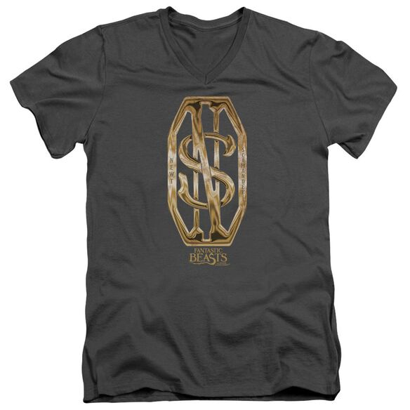 Fantastic Beasts Scamander Monogram Short Sleeve Adult V Neck T-Shirt