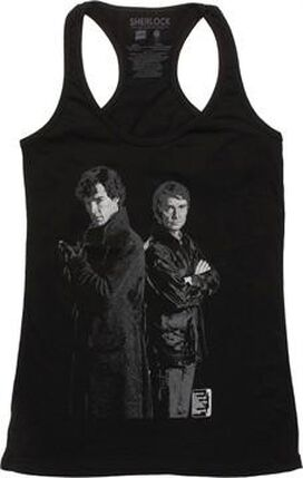 Sherlock Two Tone Duo Tank Top Juniors T-Shirt