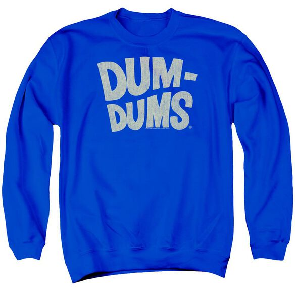 Dum Dums Distressed Logo Adult Crewneck Sweatshirt Royal