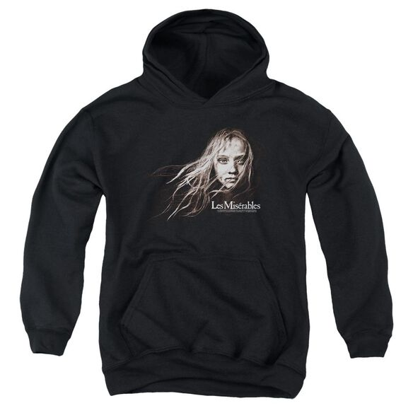 Les Miserables Cosette Face Youth Pull Over Hoodie