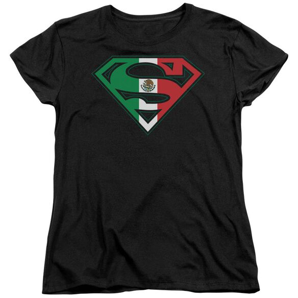 Superman Mexican Flag Shield Short Sleeve Womens Tee T-Shirt