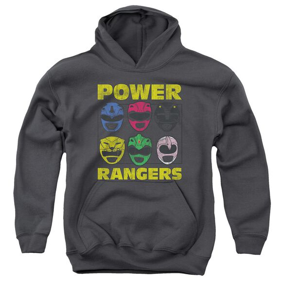 Power Rangers Ranger Heads Youth Pull Over Hoodie