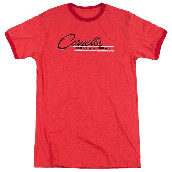 Chevrolet Retro Stingray Adult Heather Ringer Red