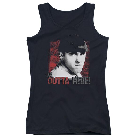 Three Stooges Get Outta Here Juniors Tank Top