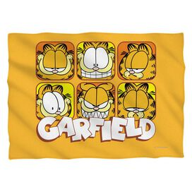 Garfield Faces Pillow Case White