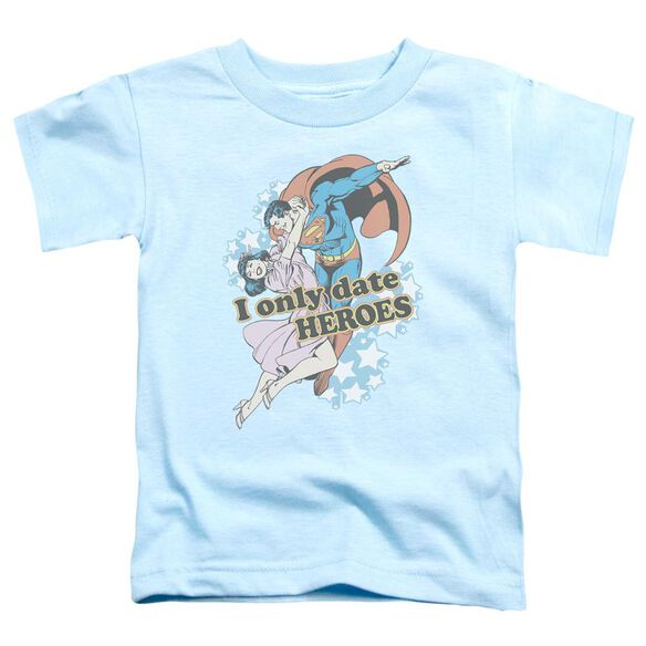 Dc Fickle Short Sleeve Toddler Tee Light Blue Sm T-Shirt