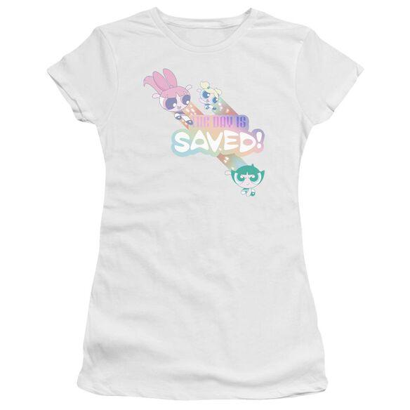 Powerpuff Girls The Day Is Saved Hbo Short Sleeve Junior Sheer T-Shirt