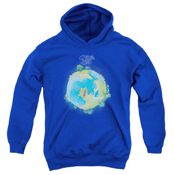 Yes Fragile Cover Youth Pull Over Hoodie Royal
