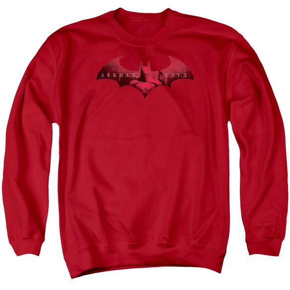 Arkham City In The City - Adult Crewneck Sweatshirt - Red