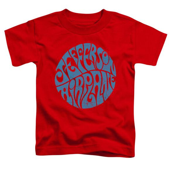 Jefferson Airplane Round Logo Short Sleeve Toddler Tee Red T-Shirt