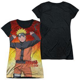 Naruto Naruto Short Sleeve Junior Poly Black Back T-Shirt