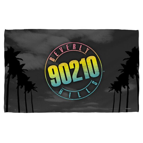 Beverly Hills 90210 Palms Logo Face Hand Towel - White