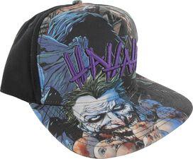Joker Batman Hahaha Sublimated Snap Hat