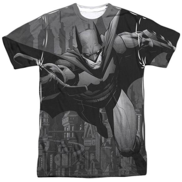 Batman Grey Race Short Sleeve Adult Poly Crew T-Shirt