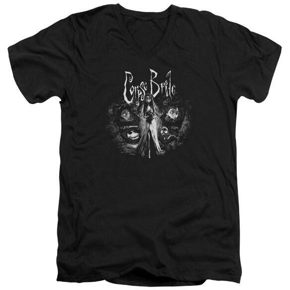 Corpse Bride Bride To Be Short Sleeve Adult V Neck T-Shirt