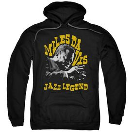 Miles Davis Jazz Legend Adult Pull Over Hoodie Black