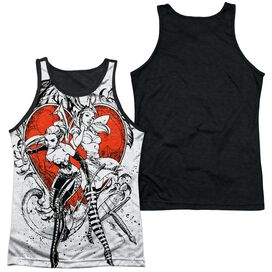 Zenoscope Bw Heart Adult Poly Tank Top Black Back