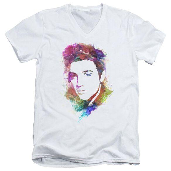 Elvis Watercolor King Short Sleeve Adult V Neck T-Shirt