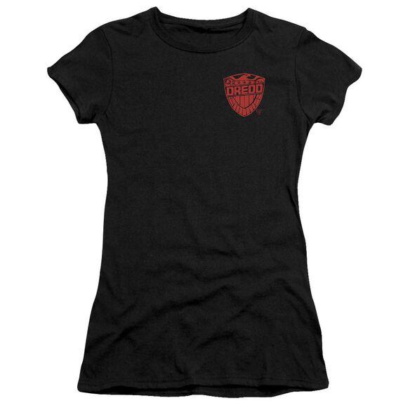 Judge Dredd Badge Short Sleeve Junior Sheer T-Shirt