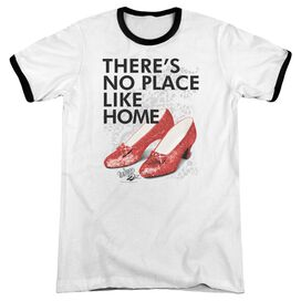 Wizard Of Oz No Place Like Home Adult Ringer White Black