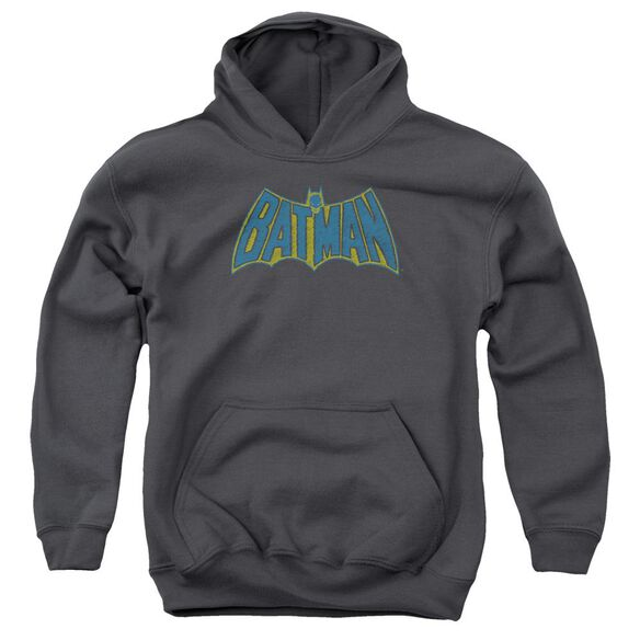 Batman Sketch Logo Youth Pull Over Hoodie