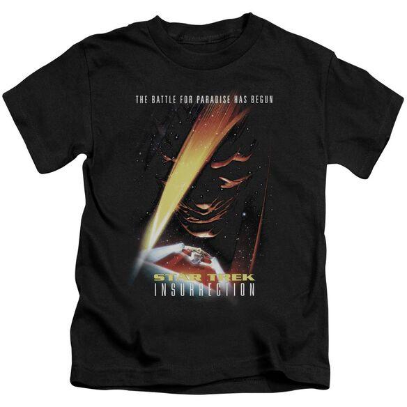 Star Trek Insurrection(Movie) Short Sleeve Juvenile Black T-Shirt
