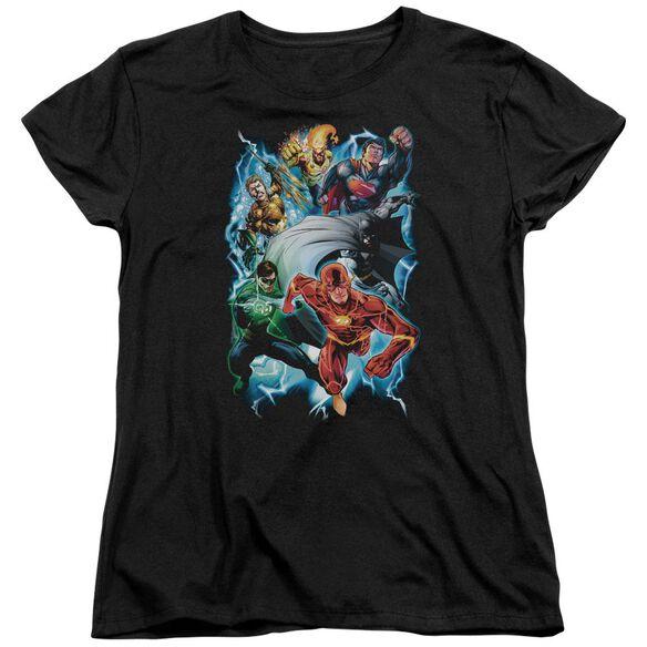 Jla Electric Team Short Sleeve Womens Tee T-Shirt