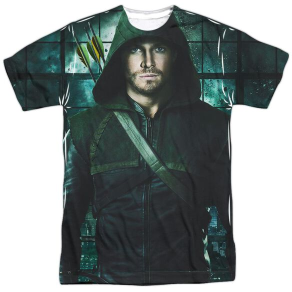 Arrow Two Sides Short Sleeve Adult Poly Crew T-Shirt
