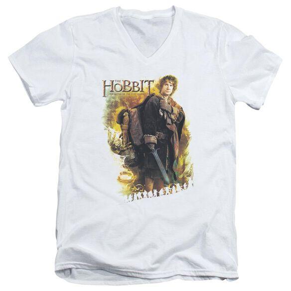 Hobbit Bilbo Short Sleeve Adult V Neck T-Shirt