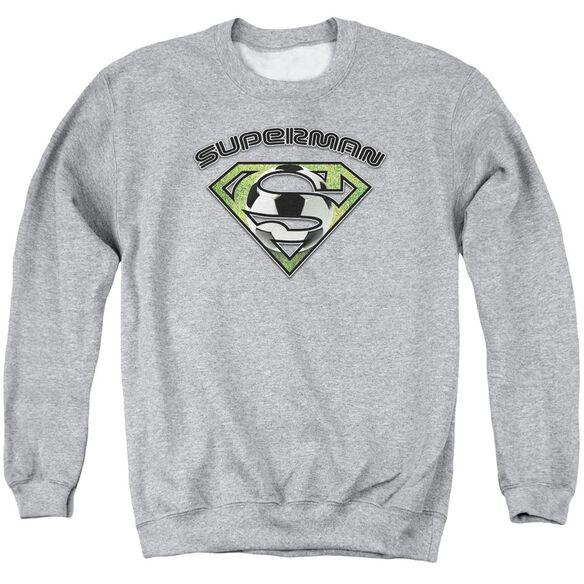 Superman Soccer Shield Adult Crewneck Sweatshirt Athletic