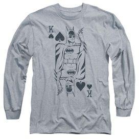 Dc Bat Card Long Sleeve Adult Athletic T-Shirt