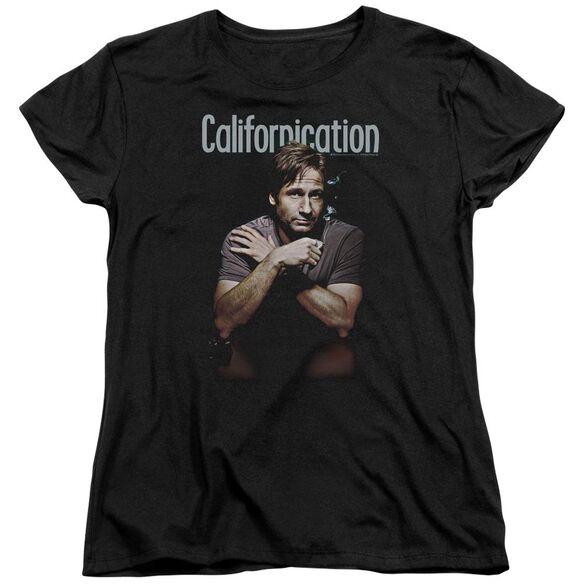 CALIFORNICATION SMOKING - S/S WOMENS TEE - BLACK T-Shirt