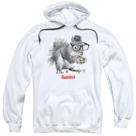 Rubik's Cube Nerd Squirrel Adult Pull Over Hoodie