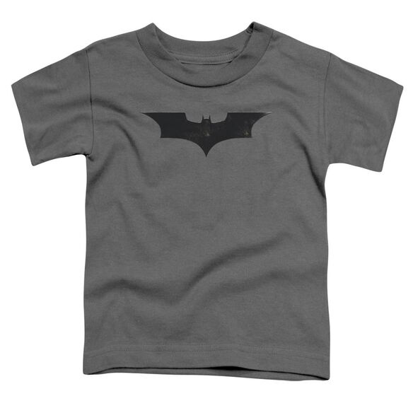 Batman Begins Logo Short Sleeve Toddler Tee Charcoal T-Shirt