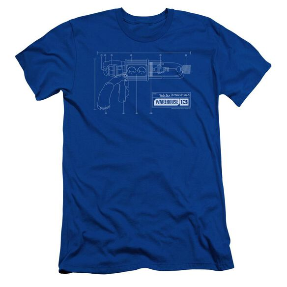 Warehouse 13 Tesla Gun Short Sleeve Adult Royal T-Shirt