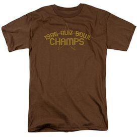 1985 Quiz Bowl Champs Short Sleeve Adult Coffee T-Shirt