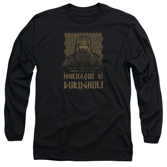 Lord Of The Rings Ishkhaqwi Durugnul Long Sleeve Adult T-Shirt