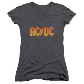 Acdc Logo Junior V Neck T-Shirt
