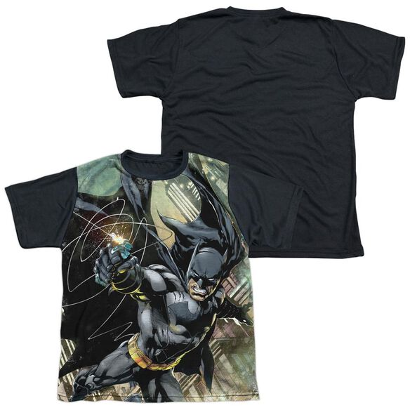 Batman Catch Short Sleeve Youth Front Black Back T-Shirt