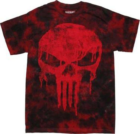 Punisher Drip Logo Tie Dye T-Shirt