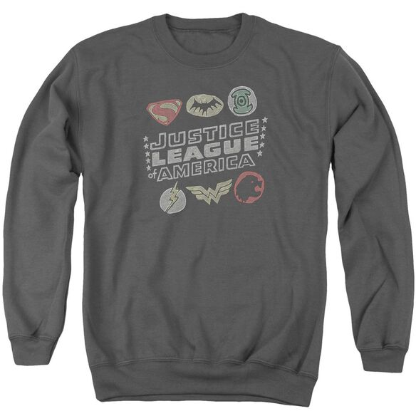 Jla Symbols Adult Crewneck Sweatshirt