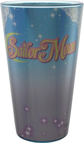Sailor Moon Artemis and Luna Iridescent Pint Glass