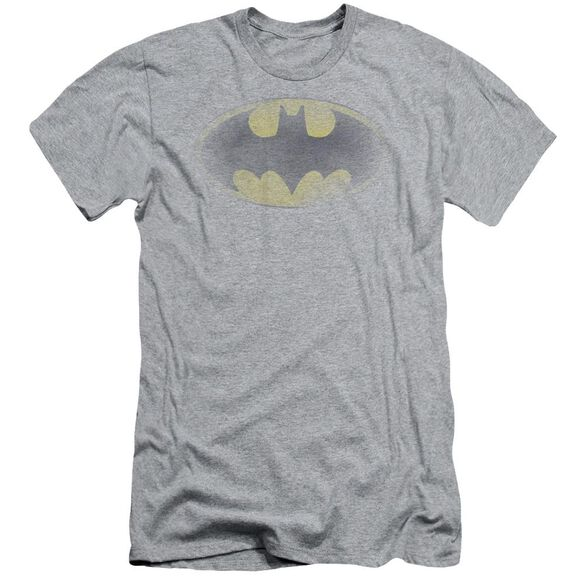 Batman Faded Logo Short Sleeve Adult Athletic T-Shirt
